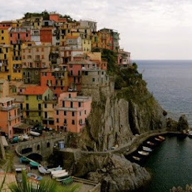 Cinque Terre by Rose Hawksford - City,  Street & Park  Vistas