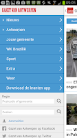 Screenshot of GVA - Gazet van Antwerpen