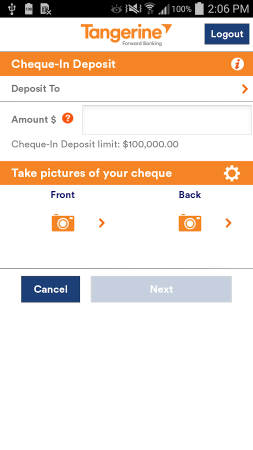 Tangerine incorporated login online banking