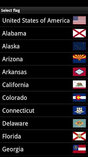 USA Flags Widget