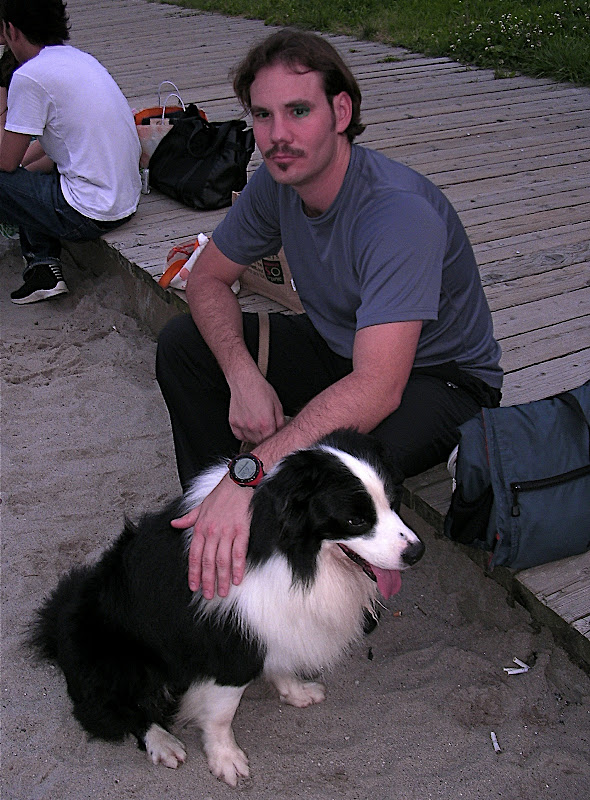 Jason with Sho, the border collie