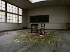 I don't think you can get a more eerie looking classroom