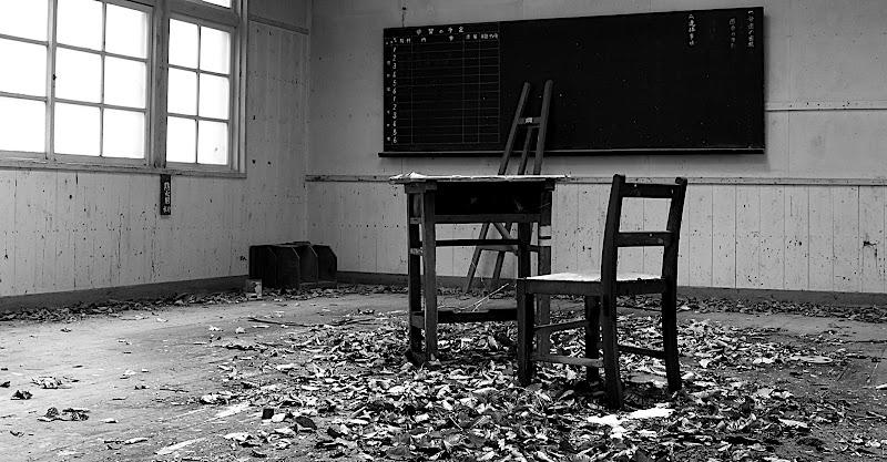 Same classroom in B&W