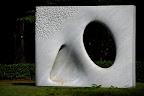 A huge marble sculpture in Shizen Kyoiku Park