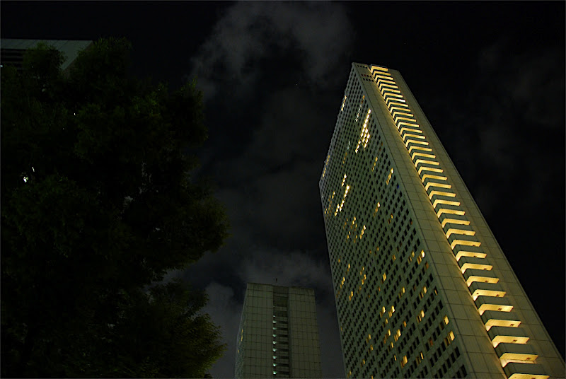 Keio Plazy Hotel lit up