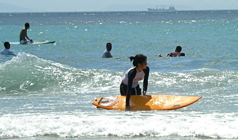 Aya surfing at Izu 03