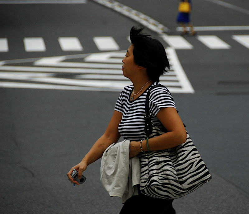 This Japanese woman REALLY likes stripes!
