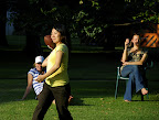 Hitomi throwing a true NFL size football!
