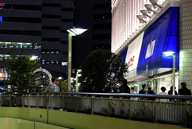The Can and Scott waiting in front of Shinjuku Bic