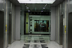 The lobby area is dedicated to photography in the Shinjuku Mitsui Building, nice