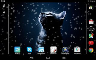 Screenshot of Lovely Snowfall Live Wallpaper