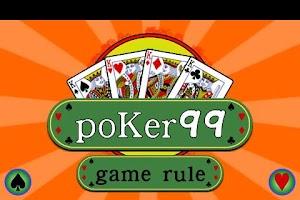 Screenshot of Poker 99 (Single player)