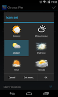 Screenshot of Chronus: Modern Weather Icons