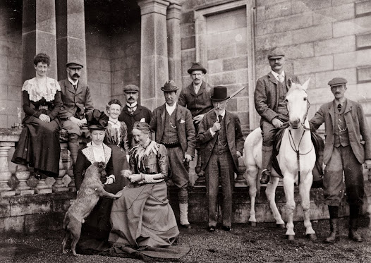 House party at Oak Park, Carlow, home of the Breun family, October 1901. (ALB 75).