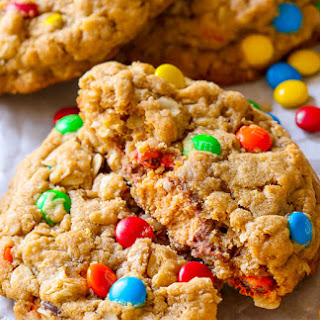 Peanut Butter Cup Surprise Monster Cookies