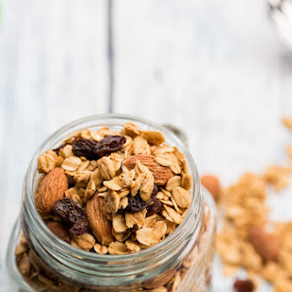 Almond Maple Granola with Raisins