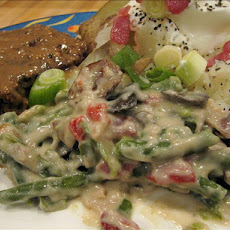 Green Beans in Cheesy Bacon Sauce (Crock Pot)