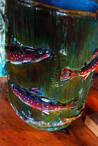 fish vase closeup