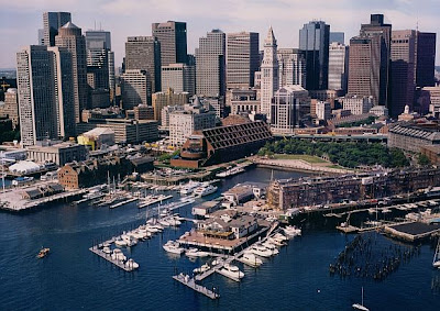 Boston Yacht Haven - Aerial view