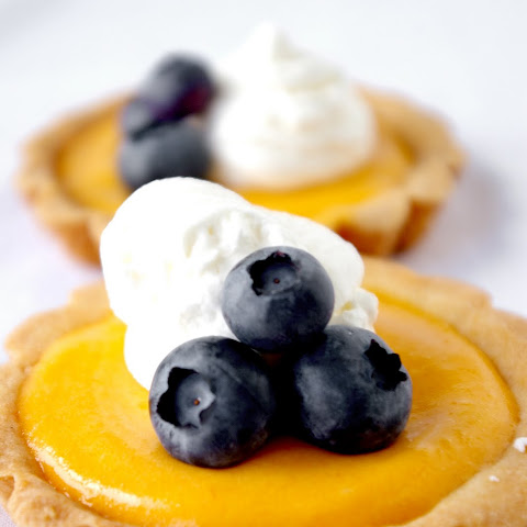 Mango Curd Tartlets with Blueberries