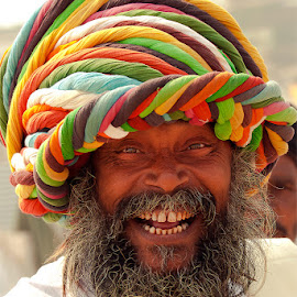 India smiles forever ..... by Susankar Paul - People Portraits of Men ( religion, forever, coloured, india, smile )