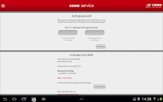 Screenshot of cewe service