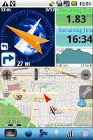 Screenshot of Run.GPS UVPro TRIAL Android1.6