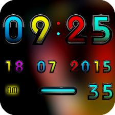 Digital Clock Widget A-ART