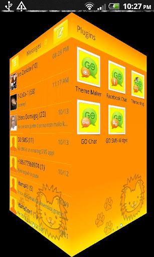GO SMS Pro Lil' Lion theme