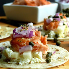 Smoked Salmon Brunch Taco Bar
