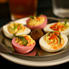Curry Deviled Eggs With Cilantro