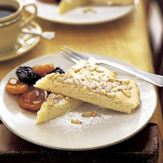 Pine Nut Torta with Marsala-Poached Autumn Fruit
