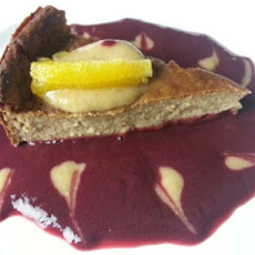 SUGAR-FREE Barley Oats Quinoa Cashew Orange Cake with Blackberry and Peach Puree