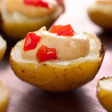 Mini Baked Potatoes with Aioli and Pimientos