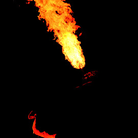 Fire Dance by Bhaskar Trivedi - Abstract Fire & Fireworks ( red, forest, dance, native people, fire )