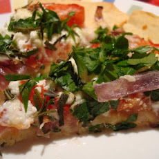 Herb and Goat Cheese Pizza