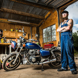 Matt the Biker by Preston Trauscht - Transportation Motorcycles