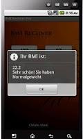 Screenshot of BMI Rechner (ohne Werbung)