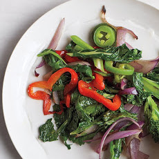 Broccoli Rabe with Pepper and Onion