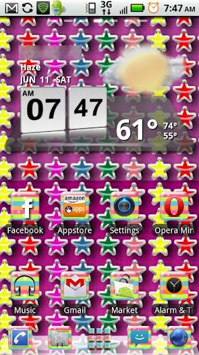 Rainbow Stars GO Launcher EX