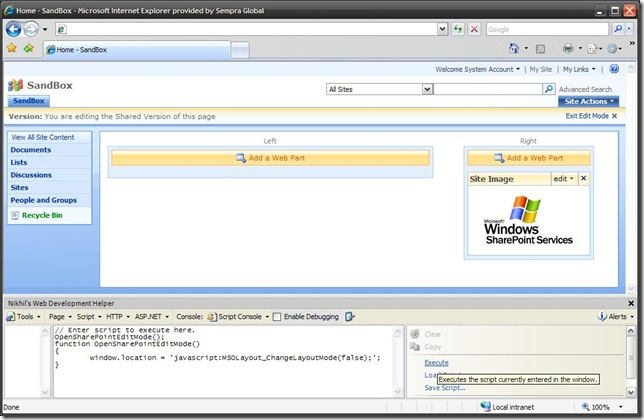SharePointWebDevelopmentHelper