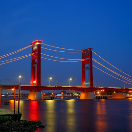 Ampera Bridge at Palembang City,  Indonesia by Markus Gunawan - Buildings & Architecture Bridges & Suspended Structures