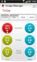 Screenshot of Vodafone Usage Manager