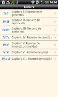 Screenshot of Penal Procedure Code Argentina