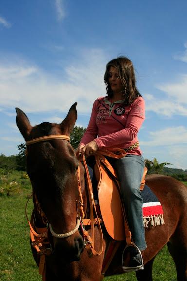 Ingrid e a nova égua