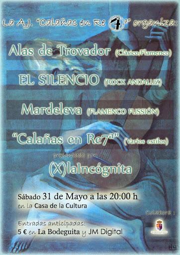 Cartel concierto día 31 en Calañas