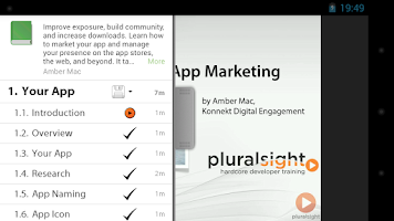 Screenshot of Pluralsight