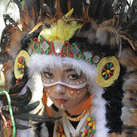 Little Indian Apache by Angga Darmawan - News & Events World Events ( little girl, apache, #jfc 2014 )