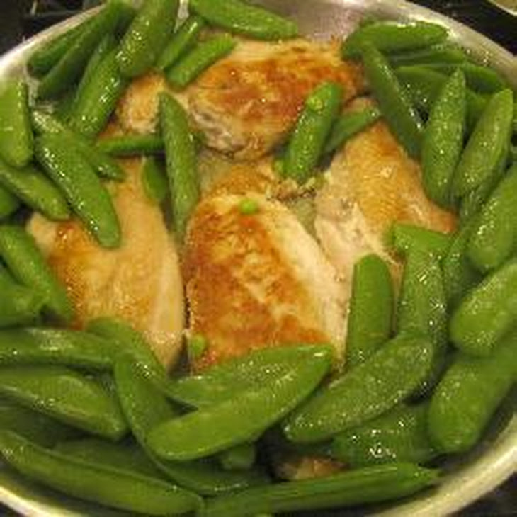 Chicken Thighs With Garlicky Crumbs And Snap Peas Recipe — Dishmaps