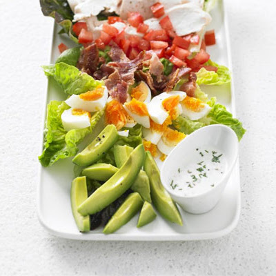 Cobb Salad With Buttermilk Ranch Dressing
